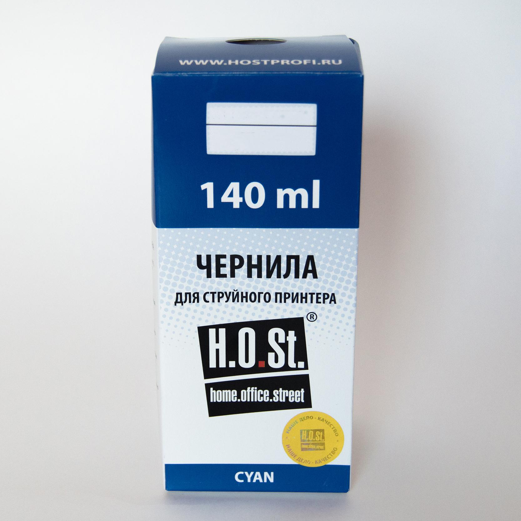Чернила HOSt для Epson XP-103  Cyan водные Премиум 140ml