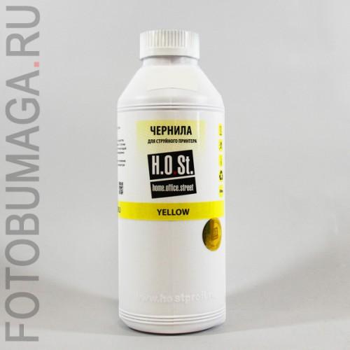 Чернила HOSt  для HP T120 водные 500мл Yellow